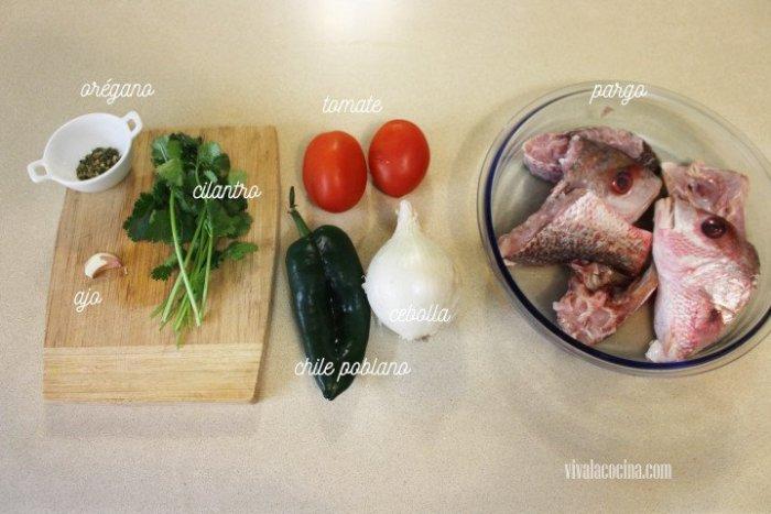 ingredientes para preparar caldo de Pescado