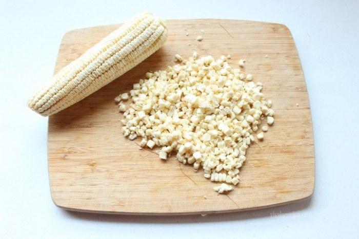 maíz o elote para el guiso de costillas de cerdo