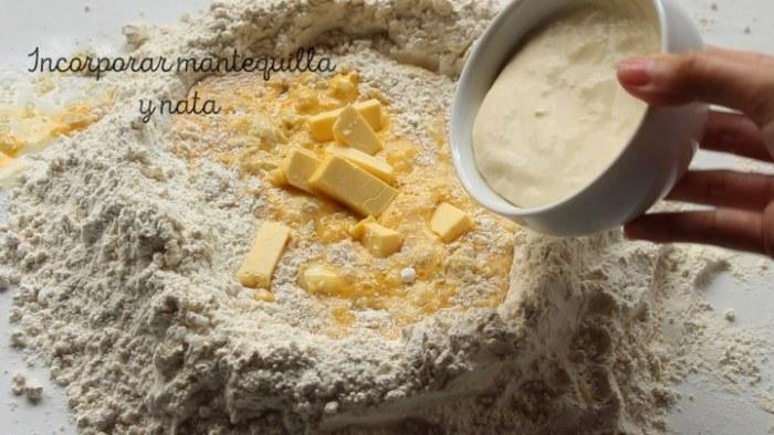 hacer la masa del pan de nata