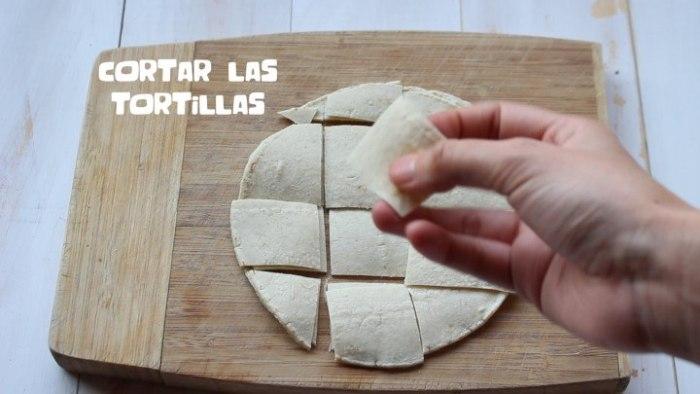 tortillas para hacer chilaquiles con salsa