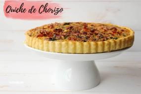 Quiche de Chorizo, pimientos y tocino. Receta fácil para hacer una quiche