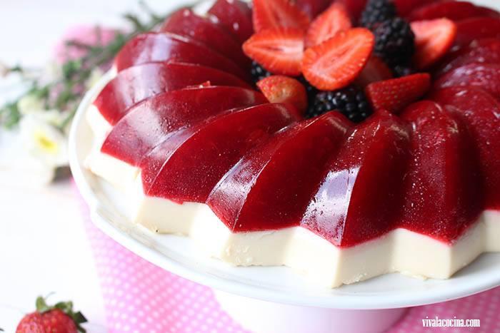 gelatina de fresa