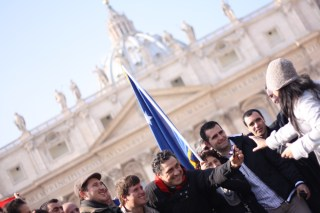 Pilgrims on Saint Peter's Square. Vatican, 2013