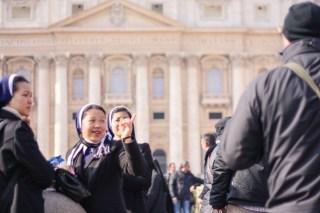 Pilgrims on Saint Peter's Square. Vatican, 2013