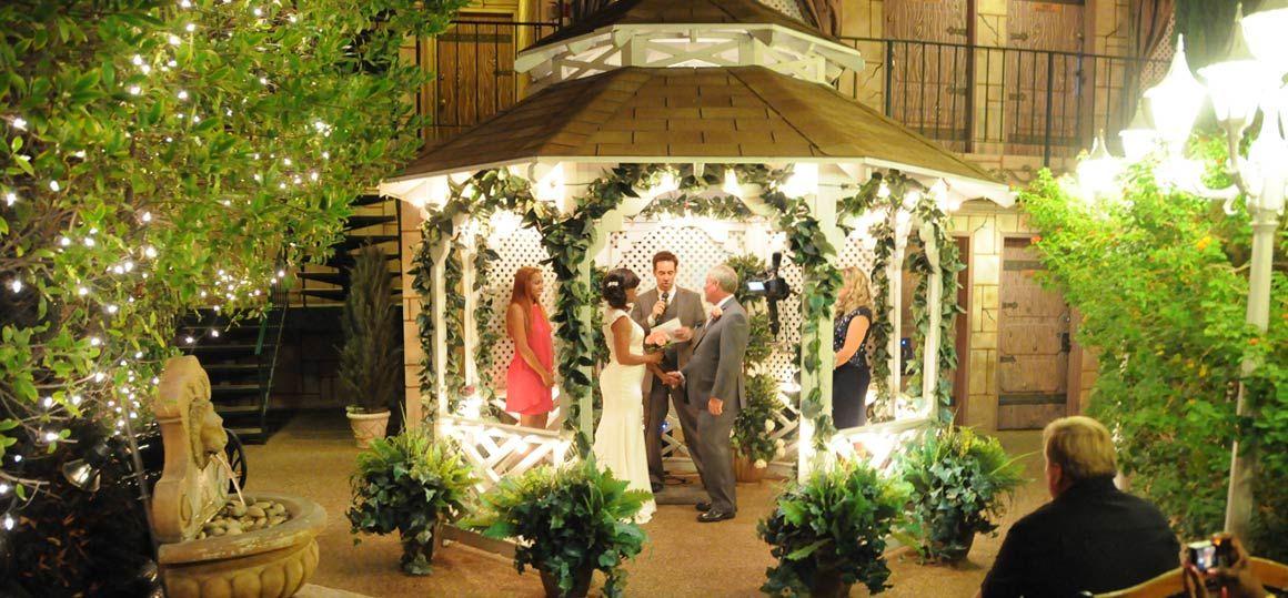 Las Vegas Outside Weddings Evening Outdoor Gazebo Weddings