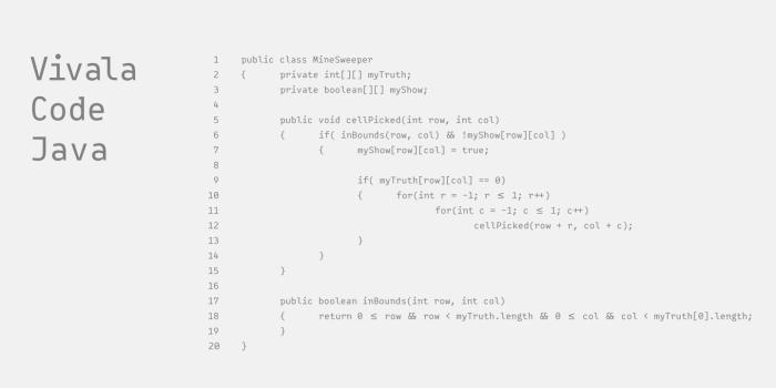 Vivala Code Java