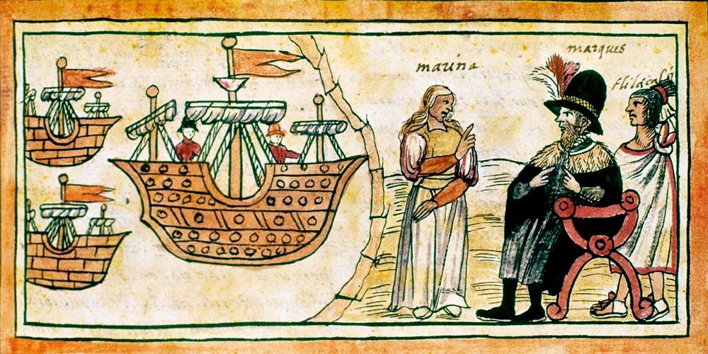 Hernán Cortès, le conquérant du Mexique La « Malinche » et Cortès