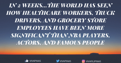 In 2 weeks…The world has seen how Healthcare Workers, truck drivers, and grocery store employees have been more significant than NBA Players, Actors, and famous people