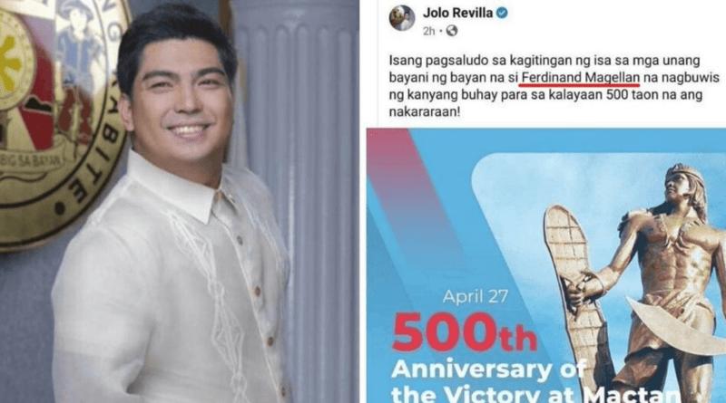 Jolo Revilla apologizes after mistaking Ferdinand Magellan for Lapulapu in FB post
