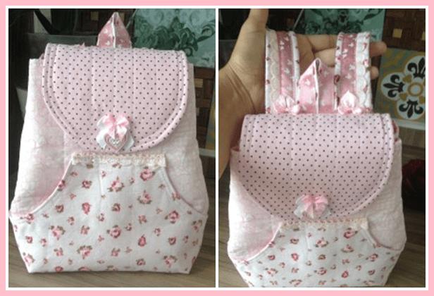 Bolsa Em Tecido Patchwork Feminina Com Alça Para Os Ombros : Passo a como fazer mochila infantil vivartesanato