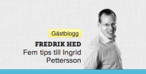 Fredrik Hed, bloggare