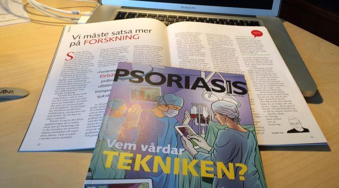 Skriver krönika i Psoriasistidningen om forskning
