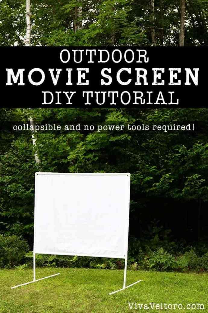 DIY Outdoor Movie Screen Tutorial