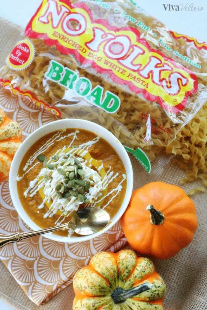 Pumpkin coconut noodle soup recipe viva veltoro heres what this pumpkin coconut noodle soup recipe looks like if you dice the yellow pepper and cut out the sour cream topping forumfinder Images