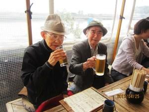 江ノ島を眺めながらのランチ