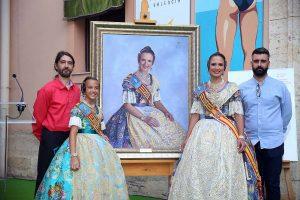 Alicia y Sofía, FMV, junto a Pere Fuset y José Borrell. Fotografía: Armando Romero