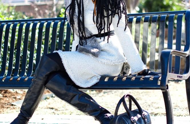 Boucle + Wool + Faux Fur Stole