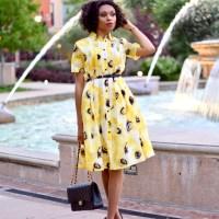 Kate Spade Sunny Daisy Yellow shirtdress