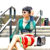 Kente Ankara Pencil skirt