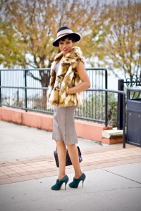 5 simple tips for styling faux fur vests