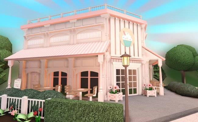Building A Pink Cafe In Bloxburg Cute766