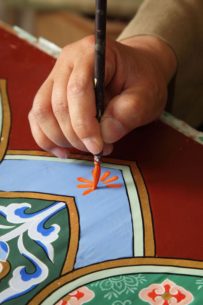 Pintura sendo aplicada