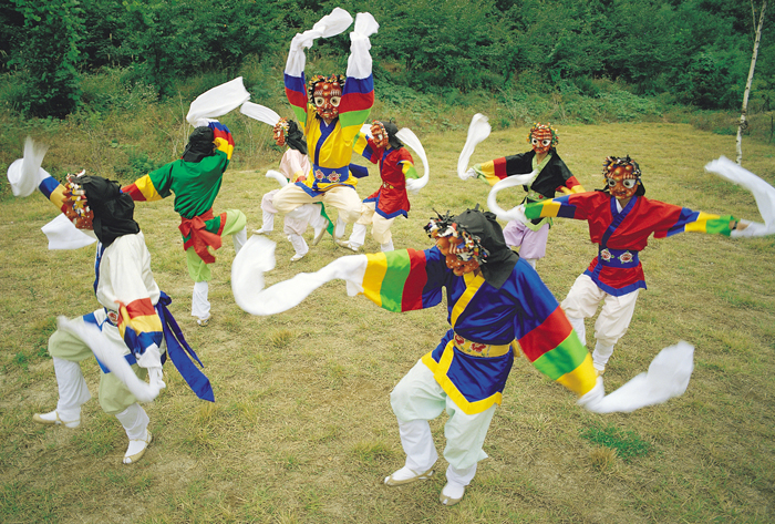 Korean-mask-dance-Bongsan-talchum