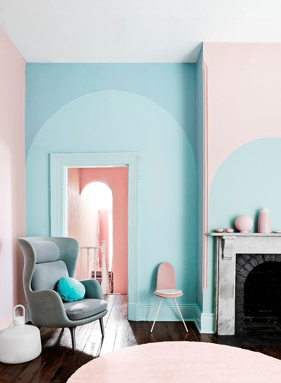 Wall Art Coral Color