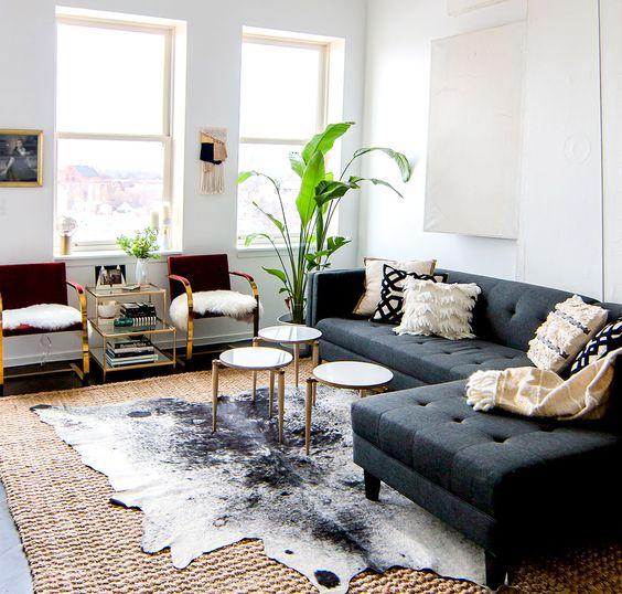 sofas modernos para sala de tv sectional sofa cuddler chaise poltronas 25 ideias decorar imperdivel fonte mydomaine