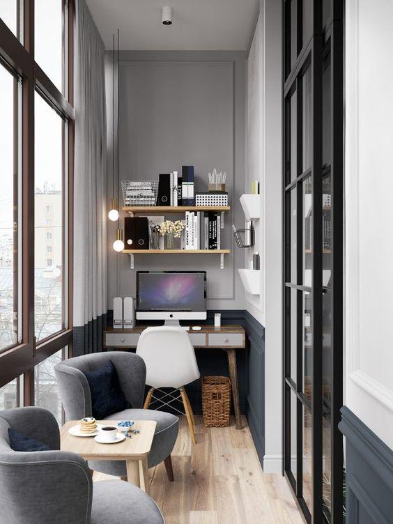 Escritrio em casa  Como montar um escritrio moderno e simples