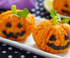 Festeggiamo Halloween (o la Giornata Mondiale Vegan) con delle zucche di riso
