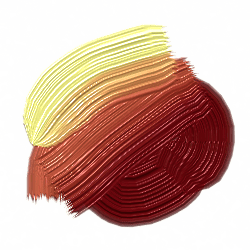 A splodge of digital paint in red hues