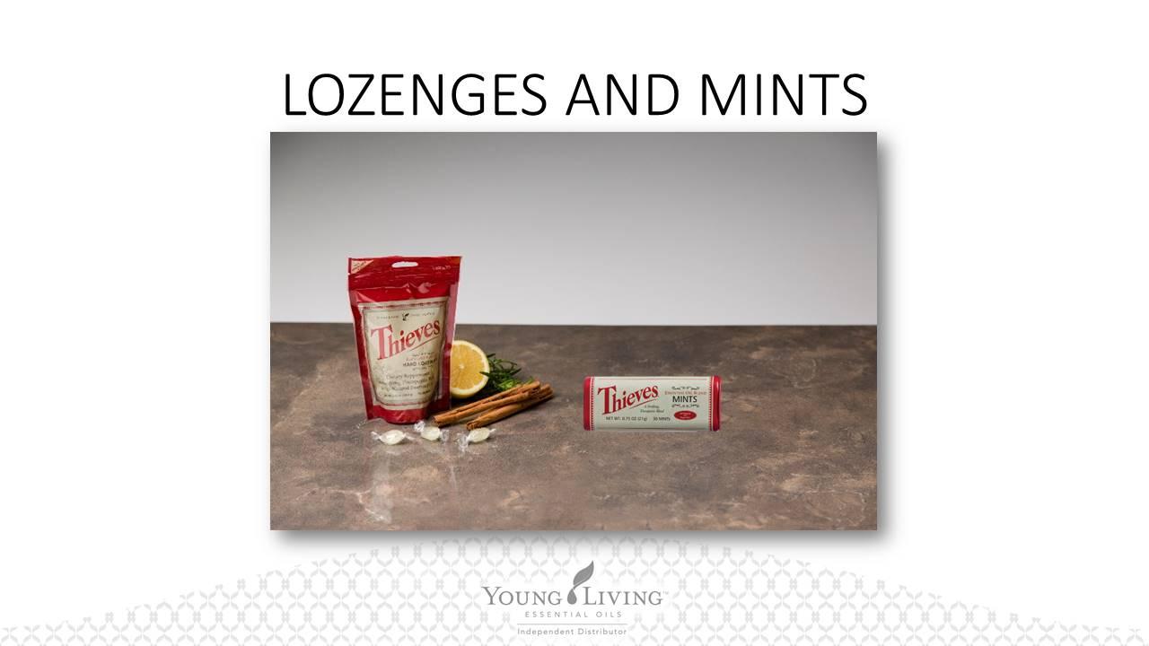 Thieves Lozenges contain potent, naturally derived ingredients with no  artificial flavors, dyes, or preservatives. They have a refreshing lemon- mint taste ...
