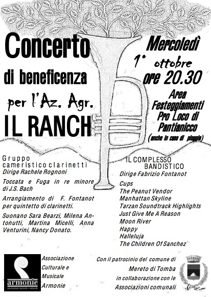 concerto per il ranch 1 01.10.2014   Concerto di beneficenza a favore del Ranch di Pantianicco