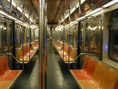 Vagão de metrô Nova Iorque