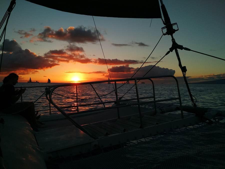 Havaí  Passeio Catamarã Pôr do Sol