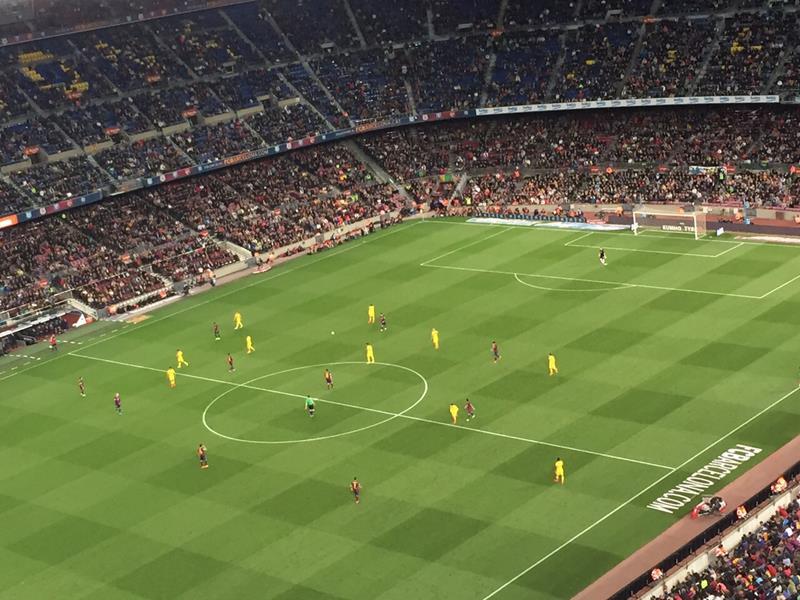 Barcelona e Getafe em campo