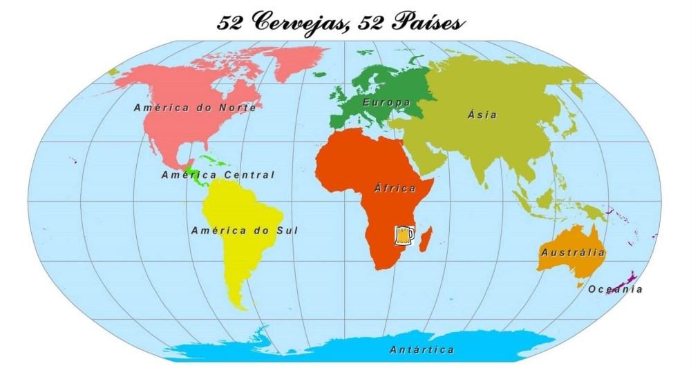 Mapa cerveja Quênia