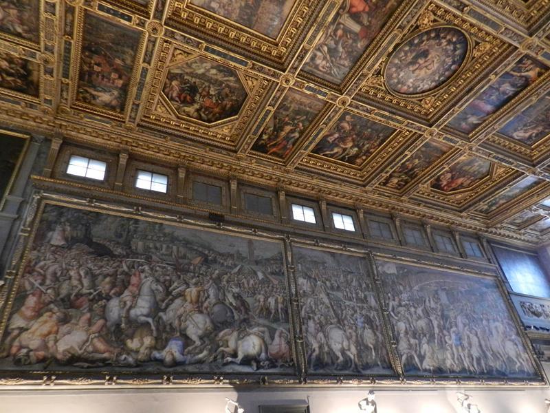 Palácio Vecchio afrescos de Vasari