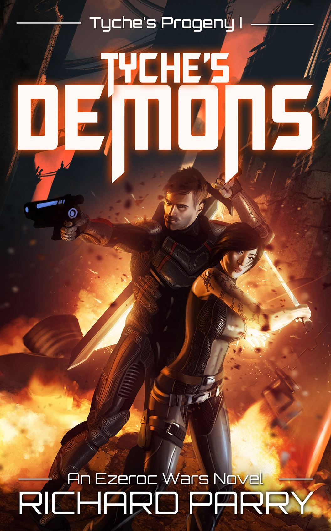 Thumbnail of sci-fi novel Tyche's Demons by Richard Parry