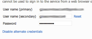 TFS - User Credetials Profile 3