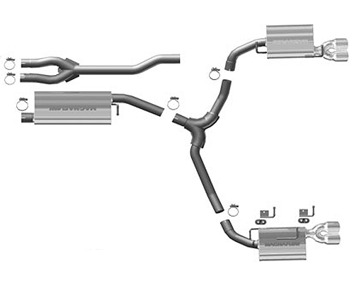 Magnaflow Quad Stainless Catback Exhaust Dodge Challenger