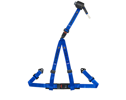 Corbeau Retractable Harness Belt Blue3 Point B