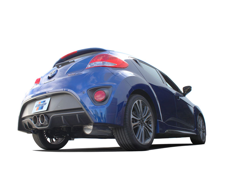 greddy supreme sp catback exhaust with dual 102mm greddy engraved tips hyundai veloster turbo 1 6l 2012 2016