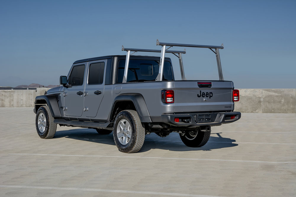us rack clipper truck bed rack brushed aluminum stainless steel jeep gladiator 2020 82240150