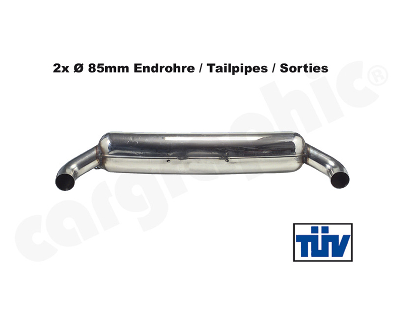 Cargraphic Silencer Super Sound with 85mm Tailpipe