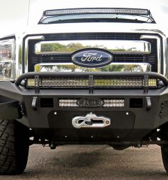 addictive desert design honeybadger front bumper ford f 250 super duty 11 16  [ 1500 x 843 Pixel ]