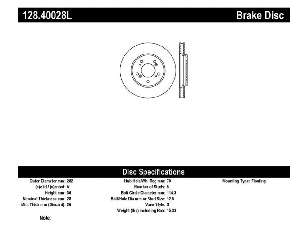 StopTech Sport Cryo Cross Drilled Brake Rotor; Rear Right