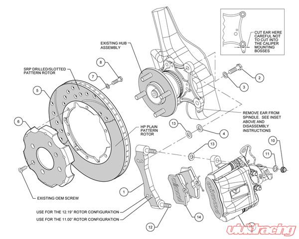 Wilwood 11 Inch Rear Big Brake Kit w/Combination Parking