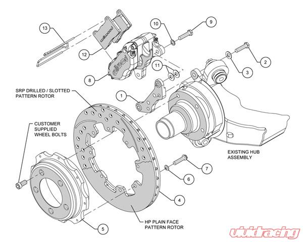 Wilwood Dynapro Radial 12 Inch Rear Big Brake Kit BMW 3